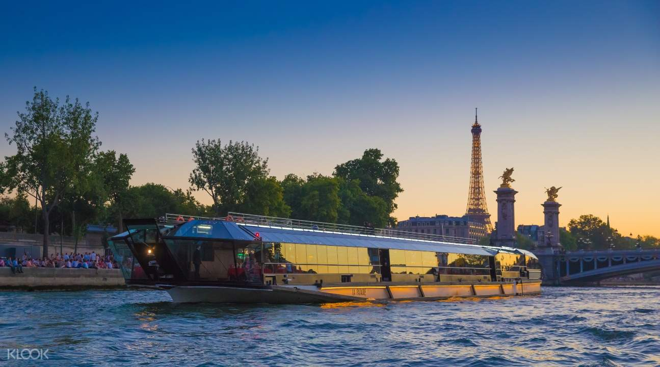 another cruise boat on the Seine River